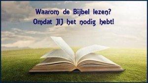 LEES UW BIJBEL DAGELIJKS