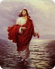 jezus op het water