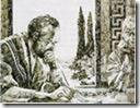 paulus schrijvend tijdens huisarrest