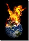 aarde in brand