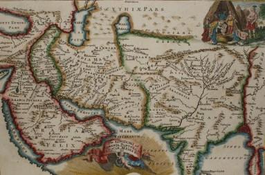 kaart perzie iran