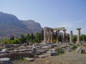 oude tempel in Corinthe
